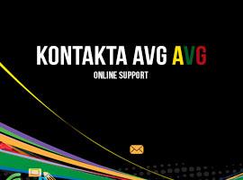 Kontakta AVG online support