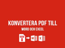 Konvertera PDF till Word och Excel
