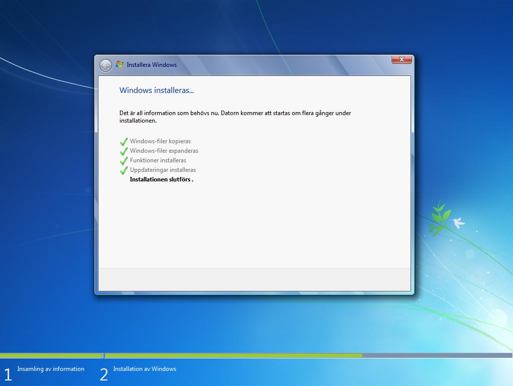 Installation Och Aktivering Av Windows 7